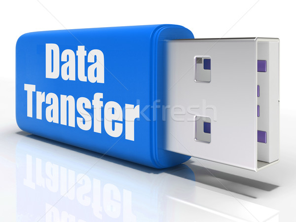 Data Transfer Pen drive Shows Files Transfer Or Storage Stock photo © stuartmiles