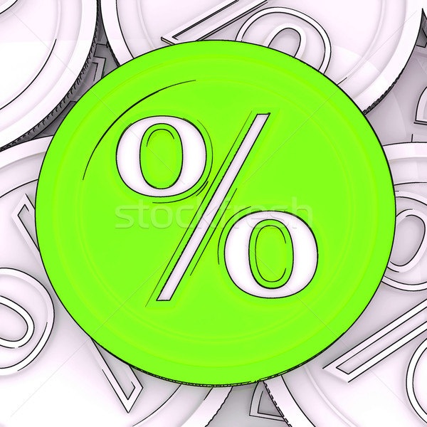 Percentage Sign Coin Meaning Interest Rates Stock photo © stuartmiles