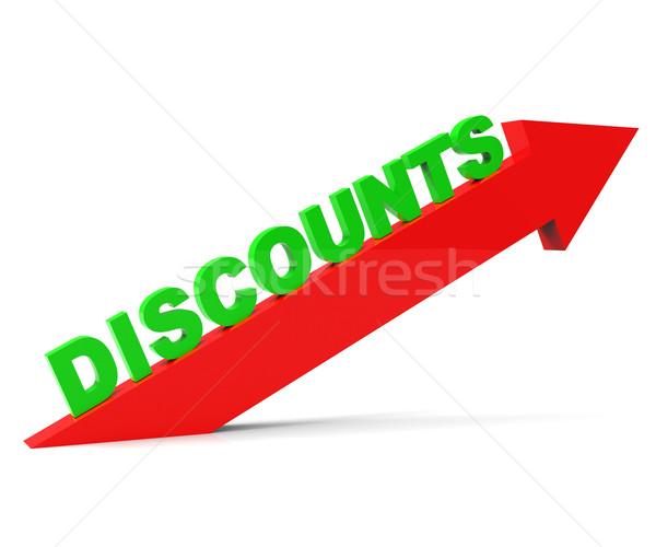 Increase Discount Indicates Cut Rate And Arrow Stock photo © stuartmiles