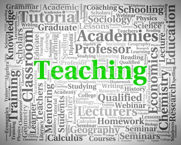 Teaching Word Shows Webinar Educate And Seminar Stock photo © stuartmiles