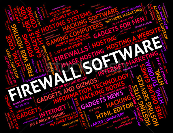 Stock photo: Firewall Software Shows No Access And Defence