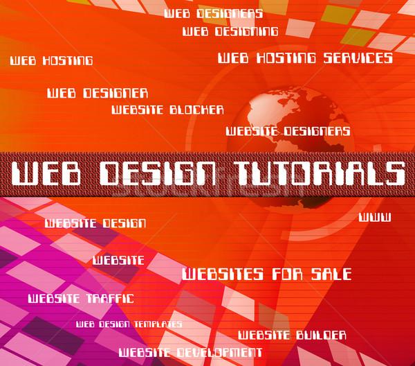 Web design oktat fejlesztés egyetem oktatás tanul Stock fotó © stuartmiles