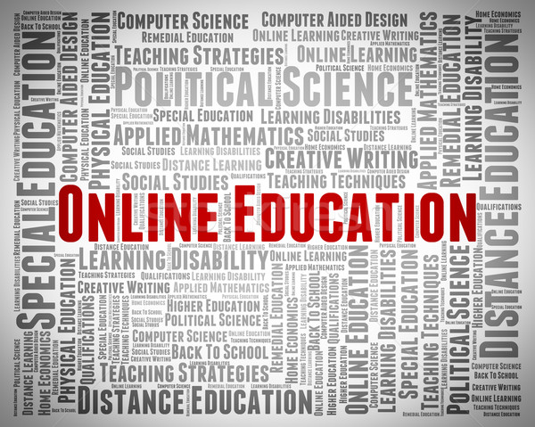 Online onderwijs world wide web college website school Stockfoto © stuartmiles