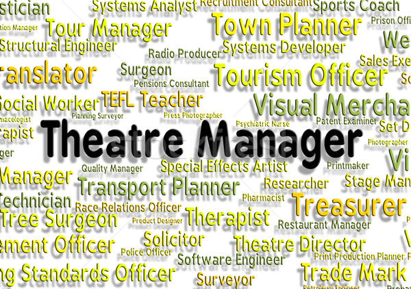 Theatre Manager Shows Stage Work And Chief Stock photo © stuartmiles