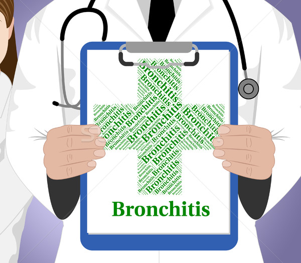 Bronchitis Word Shows Respiratory Disease And Attack Stock photo © stuartmiles