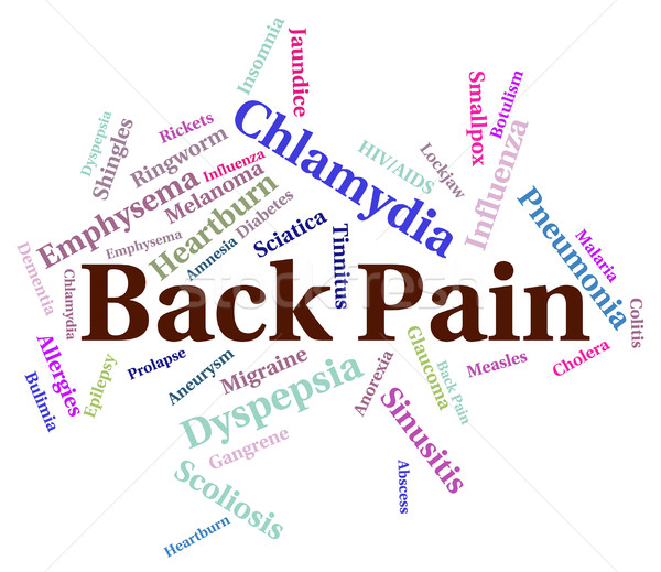 Back Pain Means Poor Health And Affliction Stock photo © stuartmiles