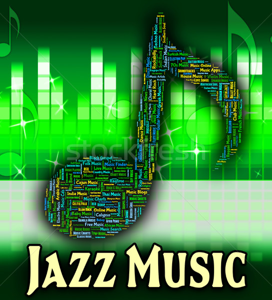 Jazz música sonido tema acústico concierto Foto stock © stuartmiles