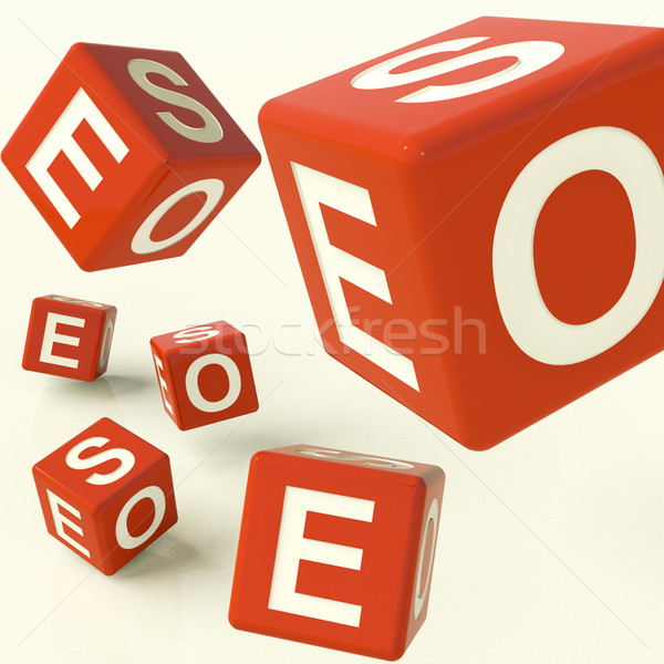 Seo Dice Representing Internet Optimization And Development Stock photo © stuartmiles