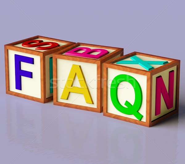 Blocks Spelling Faq As Symbol for Questions And Answers Stock photo © stuartmiles