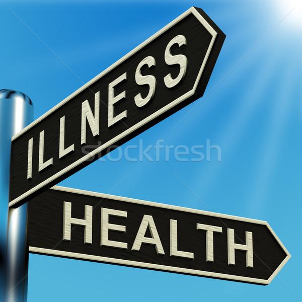 病気 健康 方向 道標 金属 病院 ストックフォト © stuartmiles