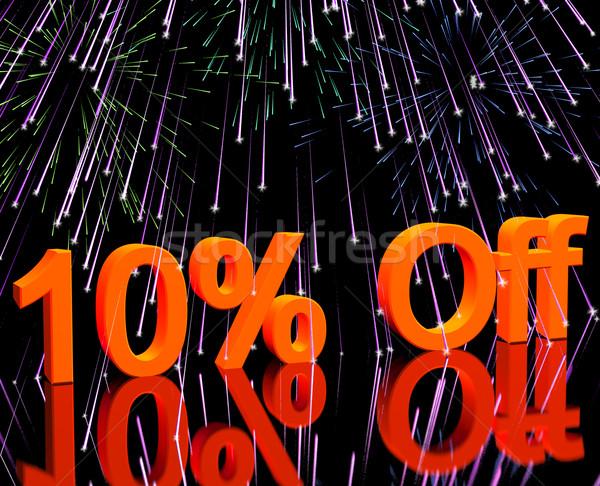 10 фейерверк продажи скидка Сток-фото © stuartmiles