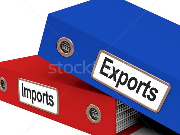 Export import akták mutat nemzetközi kereskedelem globális Stock fotó © stuartmiles