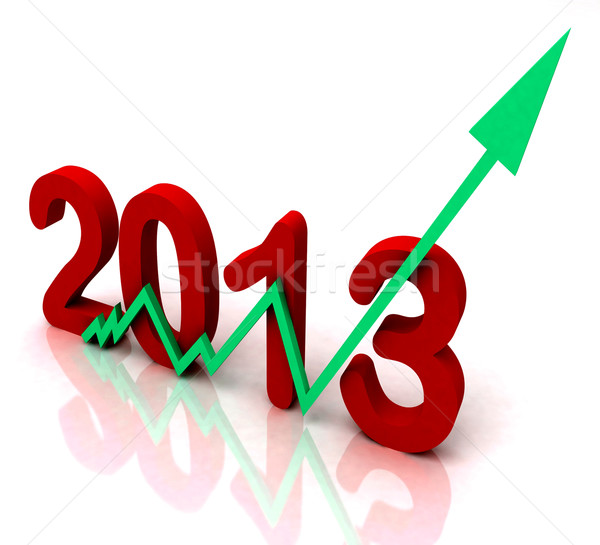 2013 Green Arrow Shows Sales For Year Stock photo © stuartmiles