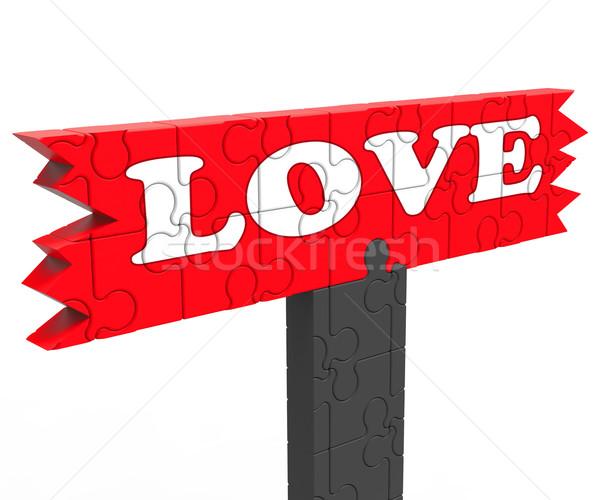 Szeretet szó szív románc valentin nap mutat Stock fotó © stuartmiles