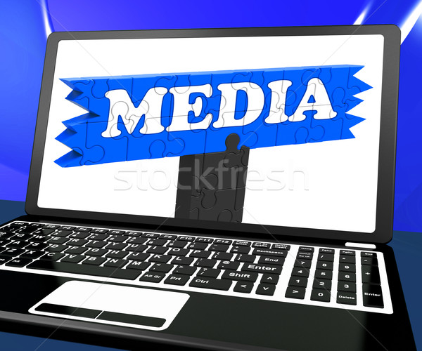 Los medios de comunicación portátil Internet radiodifusión multimedia televisión Foto stock © stuartmiles