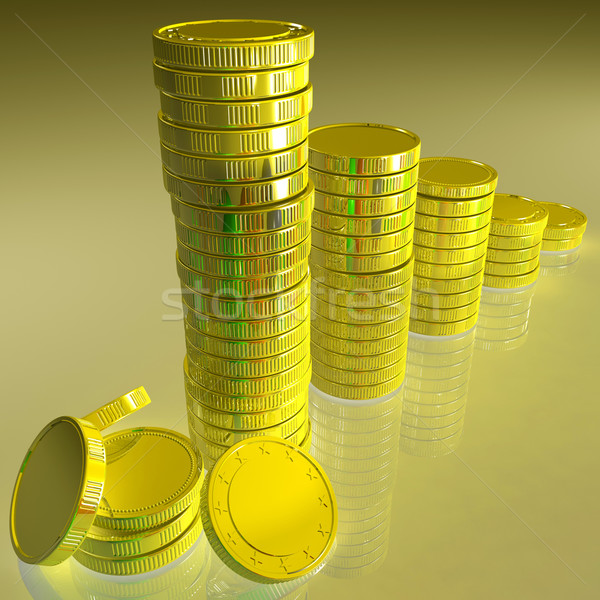 Statistics Of Coins Showing Monetary Reports Stock photo © stuartmiles