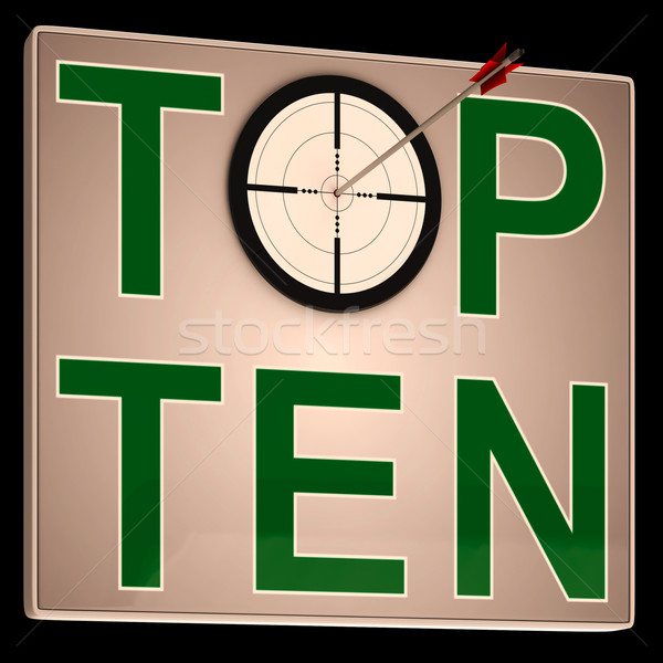 Foto stock: Topo · dez · o · melhor · gráficos · sucesso