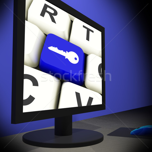 Сток-фото: ключевые · контроля · безопасности · информации · знак