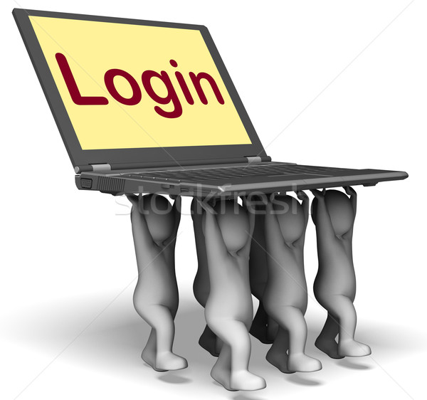 Login Characters Laptop Shows Website Signing In Or Enter Stock photo © stuartmiles