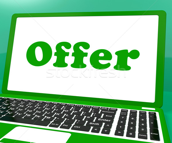 Offer Computer Shows Promotion Discounts And Reduction Stock photo © stuartmiles