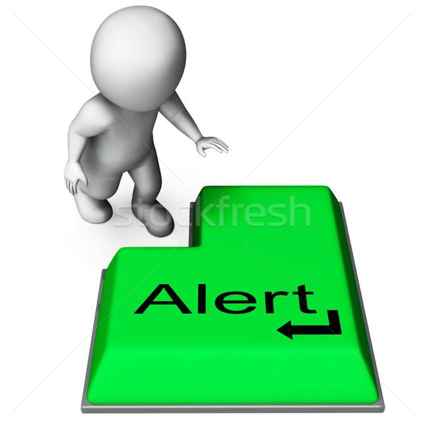 Alert Key Shows Online Notification Or Reminder Stock photo © stuartmiles