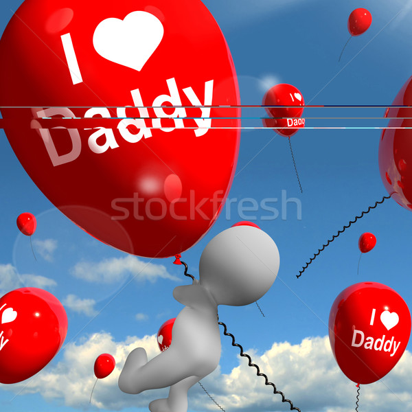 Amour papa ballons affectueux sentiments père Photo stock © stuartmiles