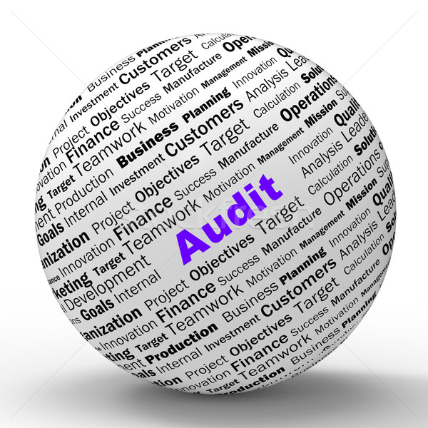 Audit Sphere Definition Means Financial Inspection Or Audit Stock photo © stuartmiles