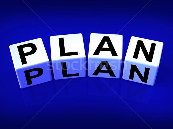 Plan Blocks Mean Targets Strategies and Plans Stock photo © stuartmiles