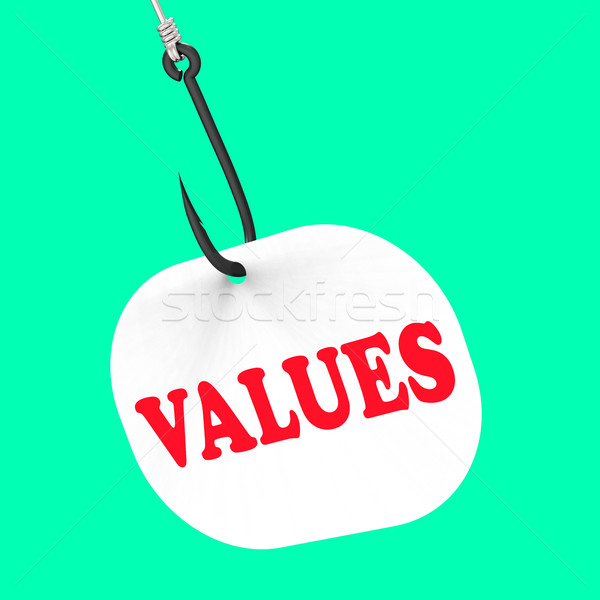Values On Hook Means Ethical Values Or Morality Stock photo © stuartmiles