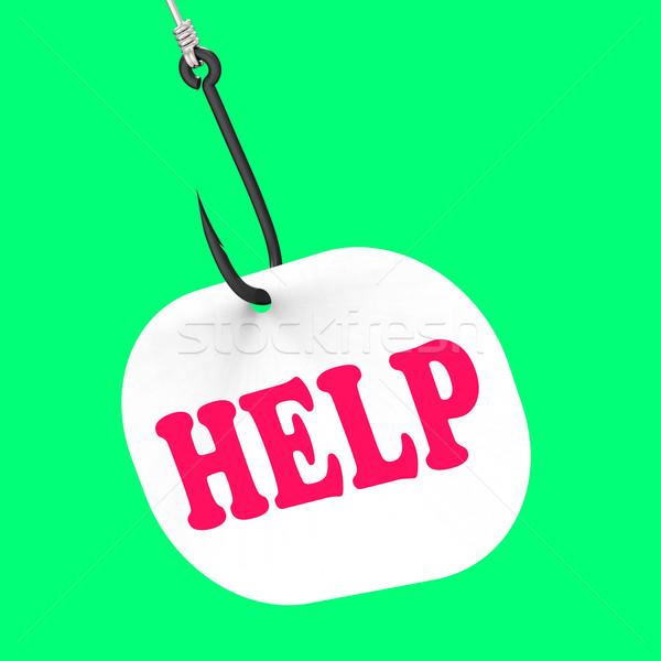Pomoc hak obsługa klienta wsparcie znaczenie Zdjęcia stock © stuartmiles