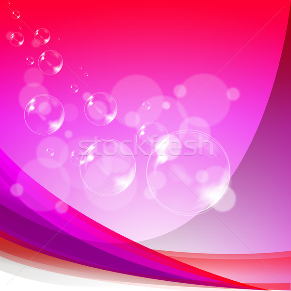 Bubbles Background Means Soapy Sparkles And Joyfulness Stock photo © stuartmiles