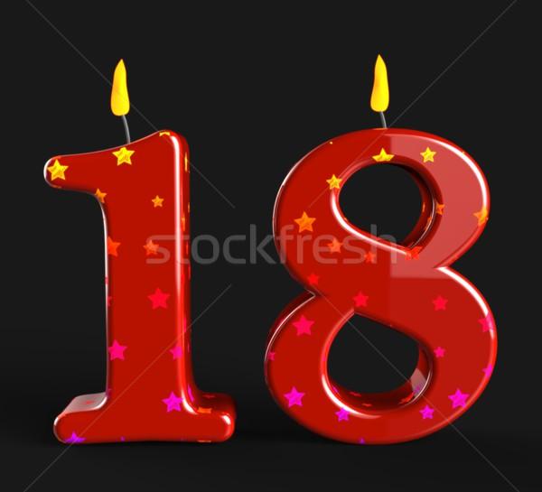 числа восемнадцати свечей шоу подростков рождения Сток-фото © stuartmiles