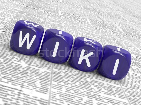 Wiki dados mostrar aprendizagem conhecimento Foto stock © stuartmiles