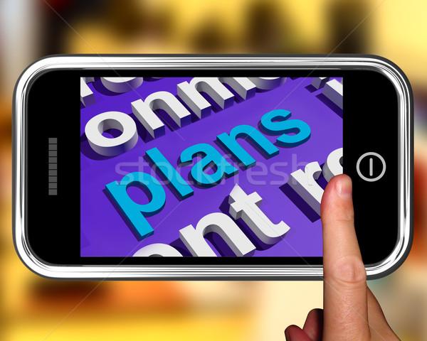 Planos nuvem da palavra planejamento Foto stock © stuartmiles