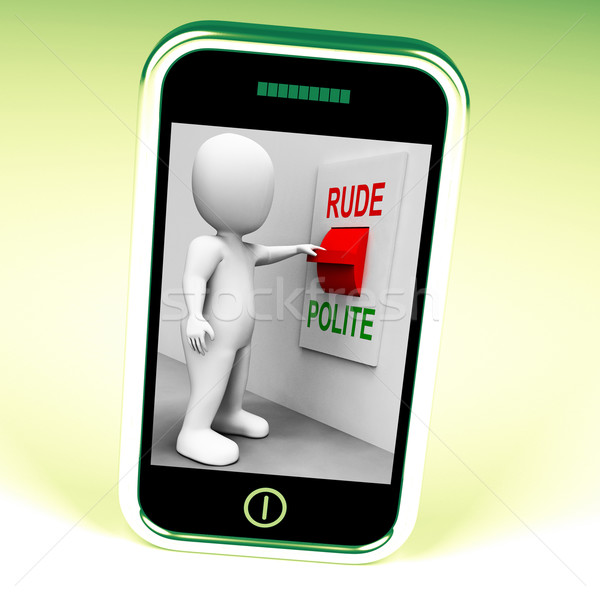Rude Polite Switch Means Good Bad Manners Stock photo © stuartmiles