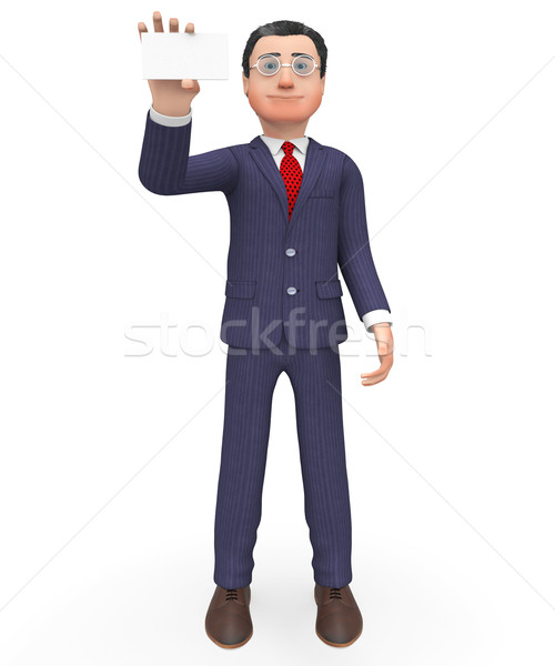 Business Card Means Empty Space And Businessman Stock photo © stuartmiles