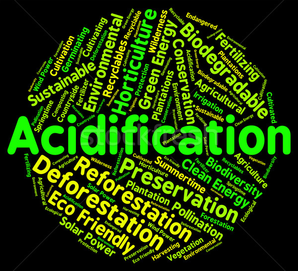 Acidification Word Indicates Text Ph And Environment Stock photo © stuartmiles