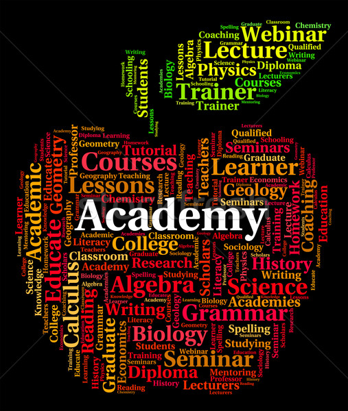 Academy Word Shows Polytechnics School And Schools Stock photo © stuartmiles