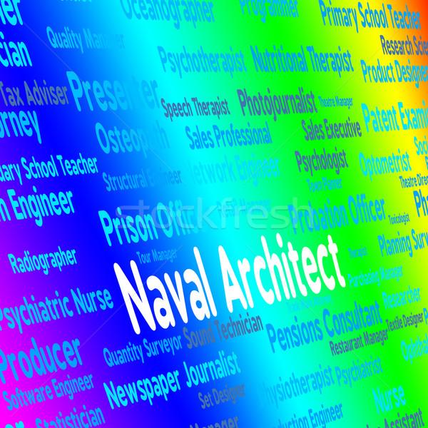Arquiteto edifício consultor aquático posição arquitetura Foto stock © stuartmiles