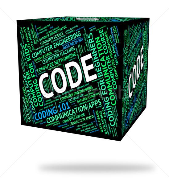 Código palavra programação texto informática computador Foto stock © stuartmiles