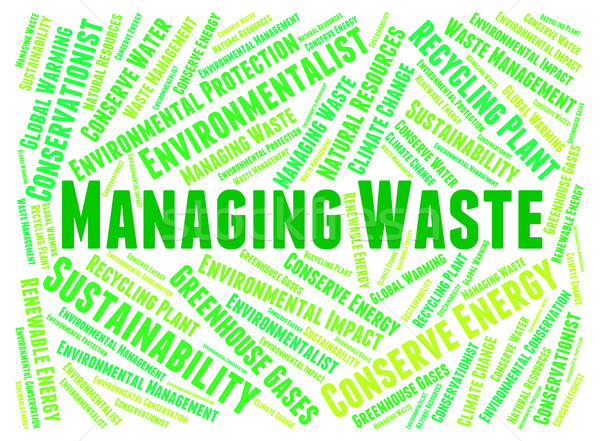 Managing Waste Indicates Words Word And Text Stock photo © stuartmiles
