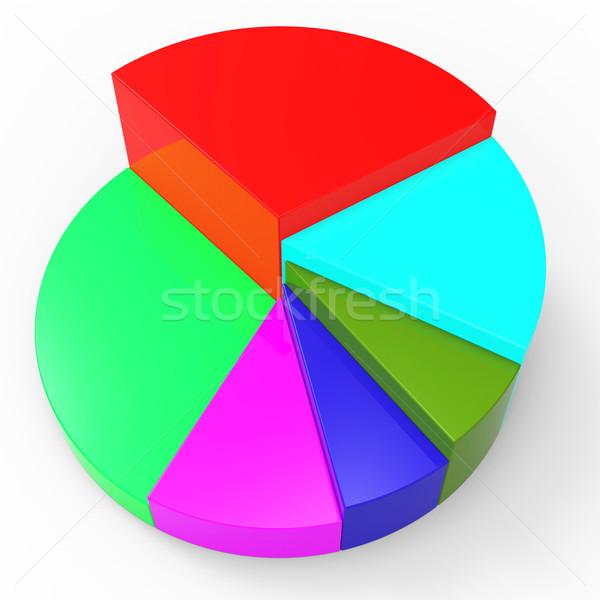 Cirkeldiagram gegevens investering trend betekenis zakelijke grafiek Stockfoto © stuartmiles