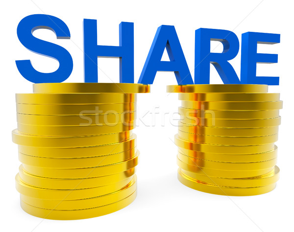 Share Money Shows Savings Increase And Advance Stock photo © stuartmiles
