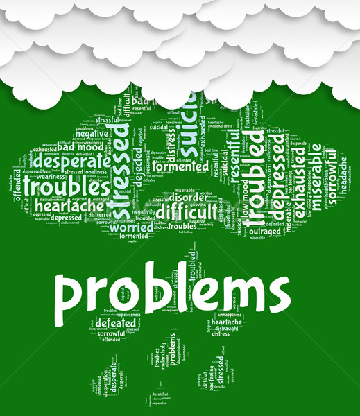 Problems Word Shows Stumbling Block And Complication Stock photo © stuartmiles