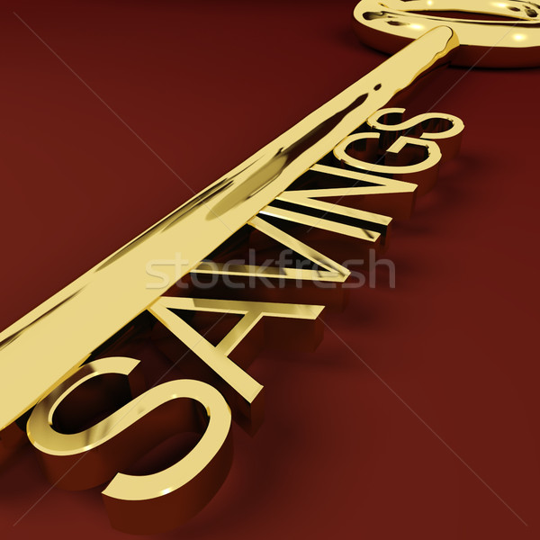 Stock photo: Savings Key Representing Growth And Investment
