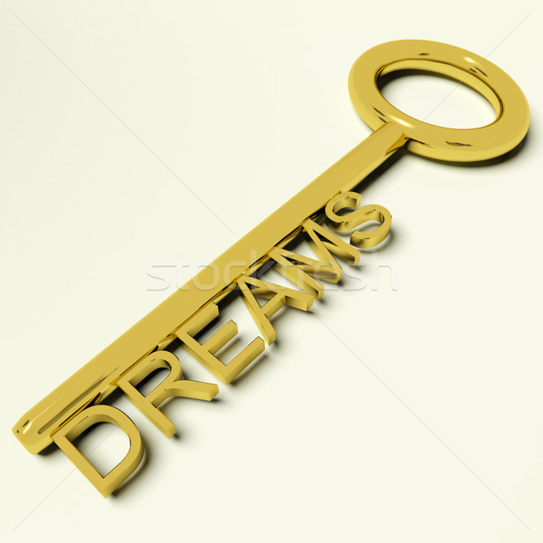 Dreams Key Representing Hopes And Ambition Stock photo © stuartmiles