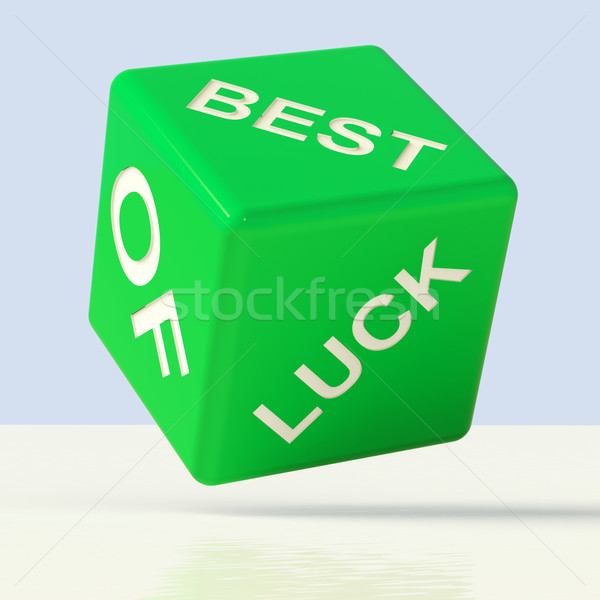 Best Of Luck Dice Representing Gambling And Fortune Stock photo © stuartmiles