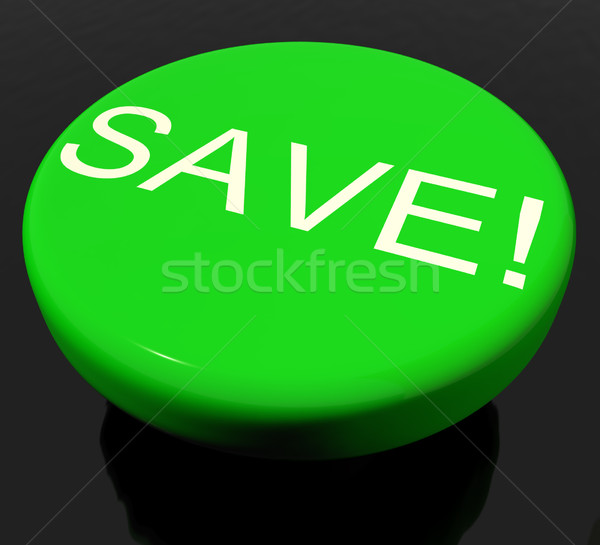 Save Button As Symbol For Discounts Or Promotion Stock photo © stuartmiles