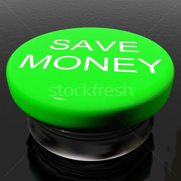 Tasarruf düğme simge tanıtım yeşil iş Stok fotoğraf © stuartmiles