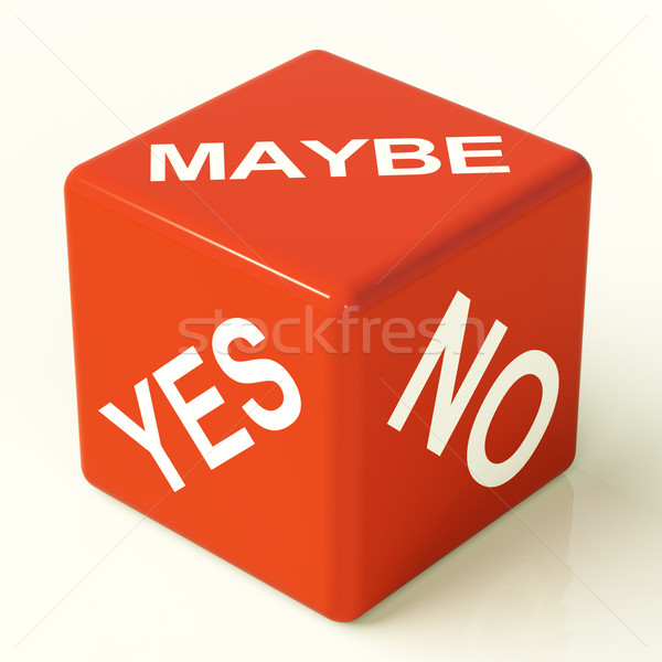 Maybe Yes No Dice Representing Uncertainty And Decisions Stock photo © stuartmiles